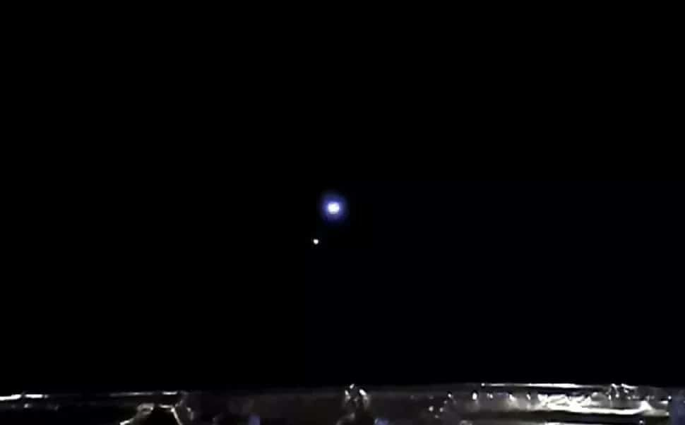Imagem capturada pela sonda chinesa Chang'e5 do ponto Lagrange Sol-Terra