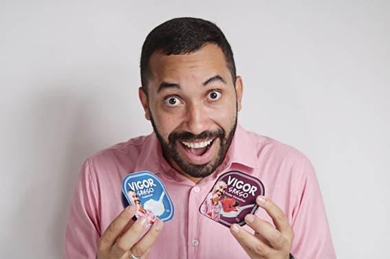 Gil do Vigor agora é também Gil da Vigor e estampa iogurtes da marca | Exame