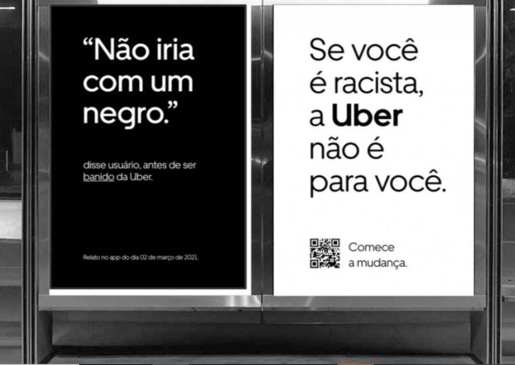 Uber faz campanha antirracista com exemplos de situações reais