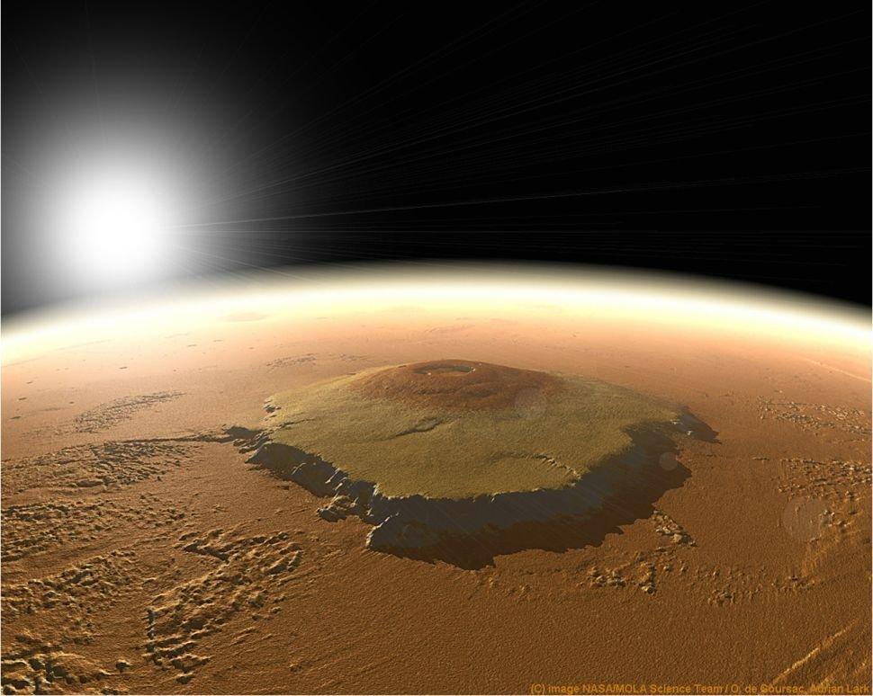 Olympus Mons em Marte