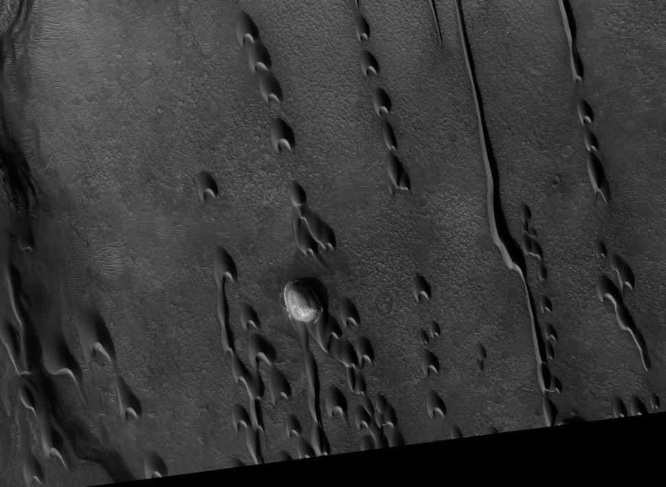 Dunas fantasmas em Marte