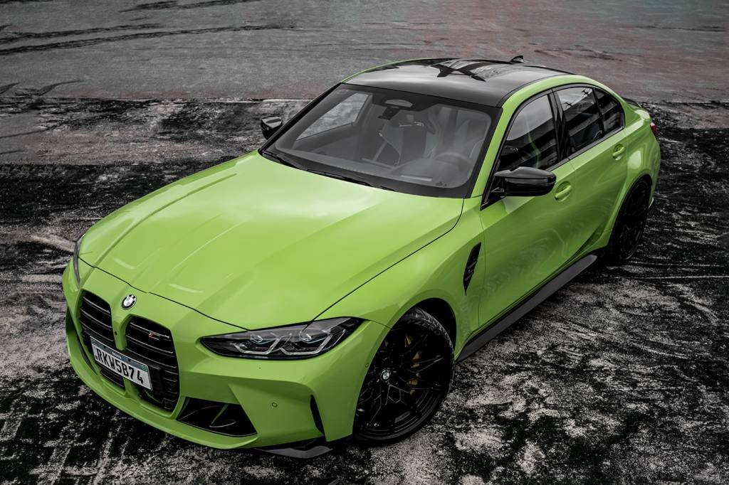 BMW M3 Competition Track na cor verde
