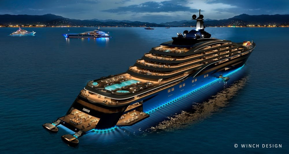 somnio Largest yacht in the world will be a floating condominium with 39 apartments