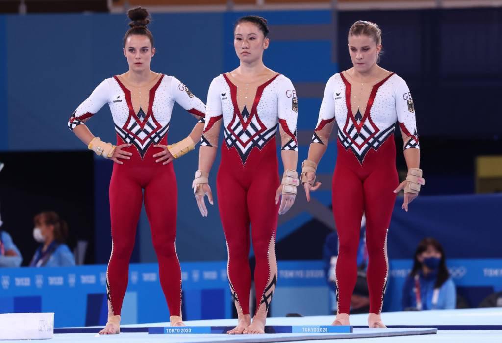 Ginastas da Alemanha durante os Jogos de Tóquio