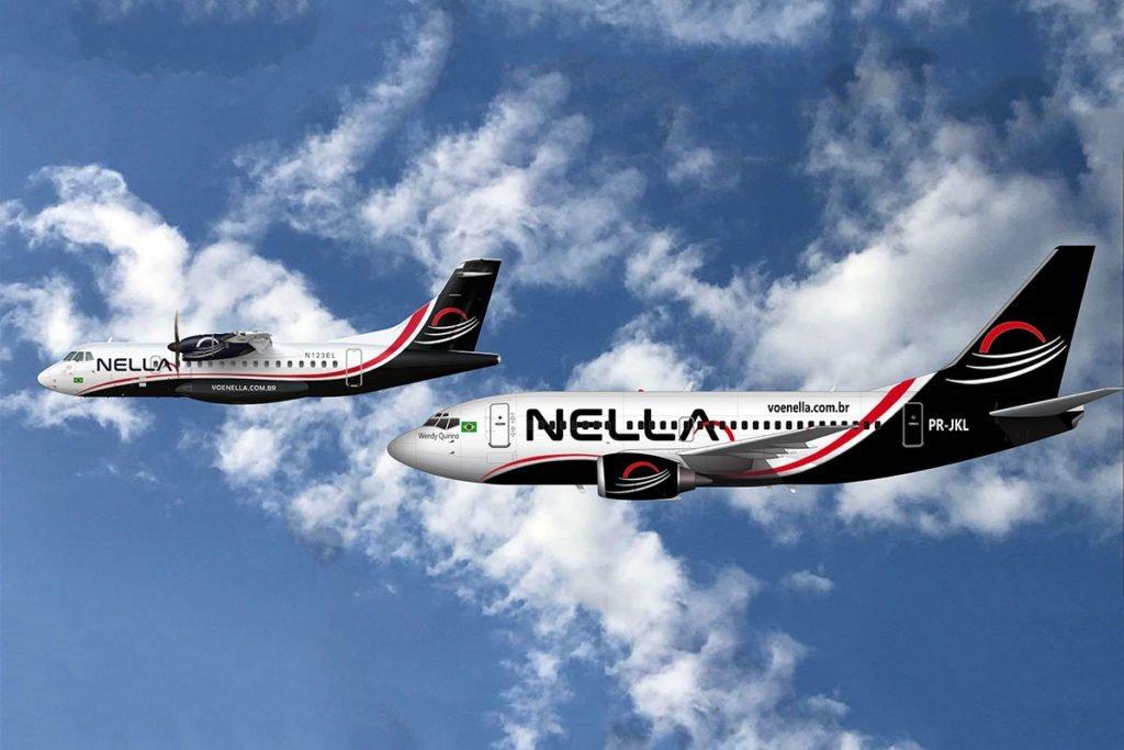 Nella Linhas Aéreas avião ATR e Airbus A320