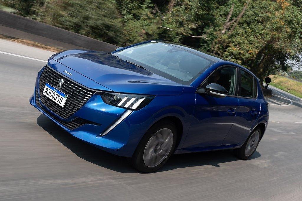 Peugeot 208 cellulare blu