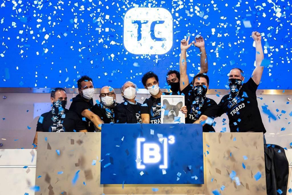 Cerimônia de estreia do TC na bolsa brasileira