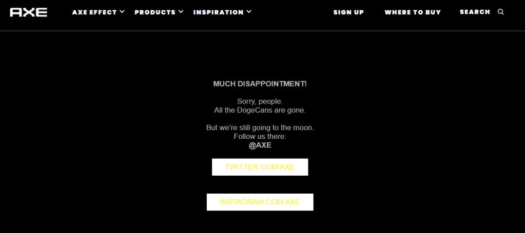 Página oficial de lançamento do Doge Can
