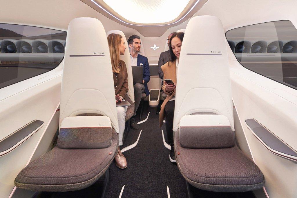 eVTOL Lilium carro elétrico drone para transporte de pessoas