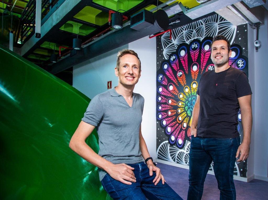 Andries Oudshoorn (à esquerda) e Marcos Leite, da OLX: plataforma quer conectar todos os parceiros | Foto: Leandro Fonseca/EXAME