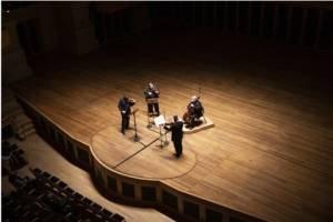 O Quarteto Osesp em recital em outubro de 2020, na Sala São Paulo
