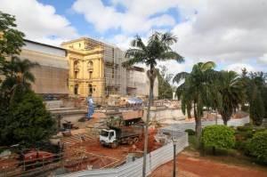 Foto da obra do Novo Museu do Ipiranga que será inaugurado em setembro de 2022