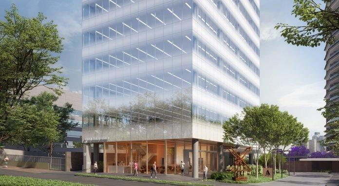 Edifício OF Office, quase na esquina da Rebouças com a Oscar Freire: previsão de entrega até o fim de 2021 | Foto: CBRE/Divulgação