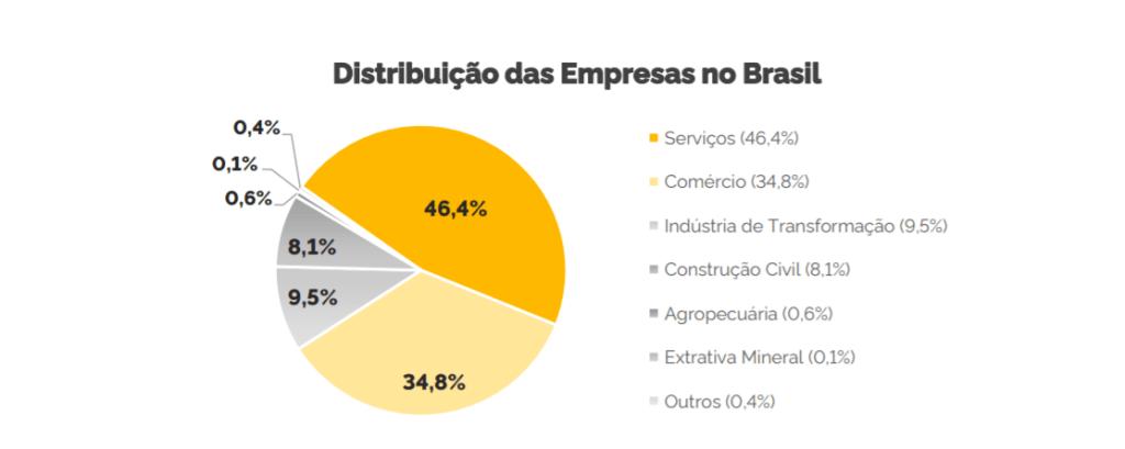 Distribuição das Empresas no Brasil