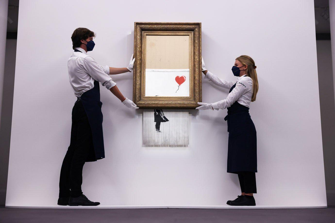 Quadro de Banksy triturado é vendido por US$ 25 milhões em leilão