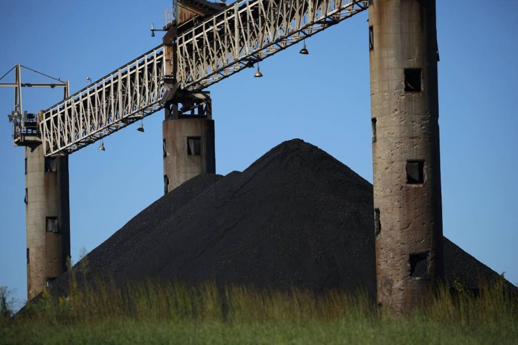 Carvão da Peabody Energy Francisco no estado de Indiana, nos Estados Unidos; preço da matéria-prima dispara em meio à crise energética global