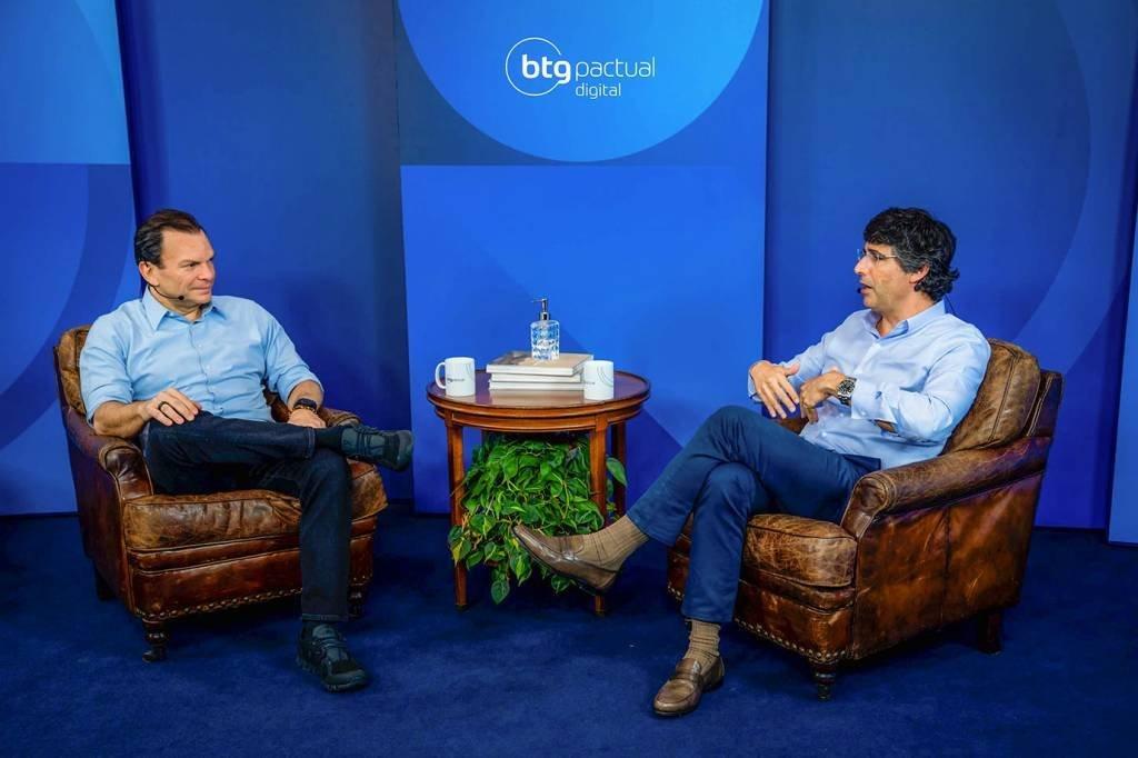 André Esteves (à direita), sócio sênior, e Roberto Sallouti, CEO do BTG Pactual