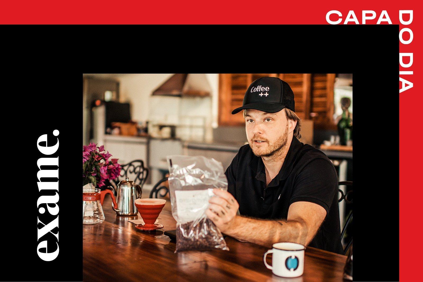 Leo Montesanto, um dos fundadores da Coffee++, empresa que leva cafés especiais antes exportados para o mercado doméstico