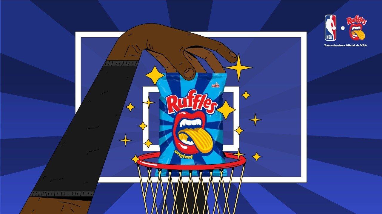 RUFFLES®️ anuncia acordo e passa a ser o snack oficial da NBA no Brasil